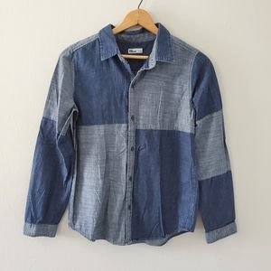 Epic Threads Two-Tone Chambray Top